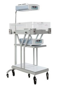 Photo Therapy Stand With Trolley (Double Surface)