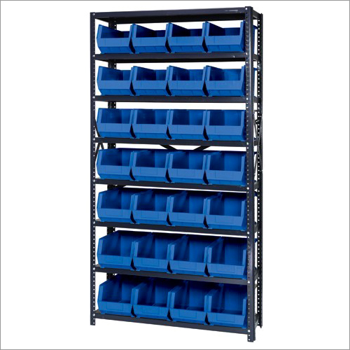 Plastic Storage Bin Steel Shelving Unit