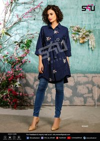 Rayon long printed shirts