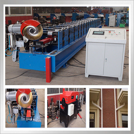 Aluminium Water Downspout Roll Forming Machine