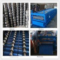 Guide Pillar Roof Sheet Glazed Tile Roll Forming Machine