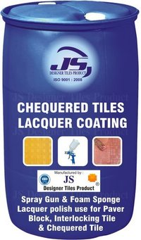 Chequered tile lacquer coating