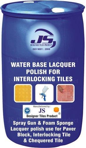 Water Base Lacquer Polish for Interlocking Tile