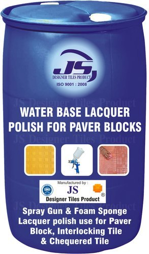 Water Base Lacquer Polish For Paver Block