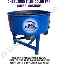 Chequered Tile Color Pan Mixer Machine