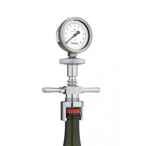 Glass Bottle/Vacuum Gauge