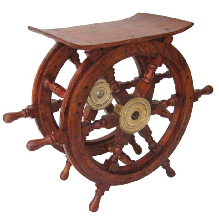 Wooden Ship Wheel Table