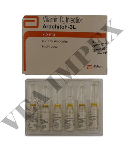 Arachitol 3L Injection Vitamin D3-CHOLECALCIFEROL 7.5MG