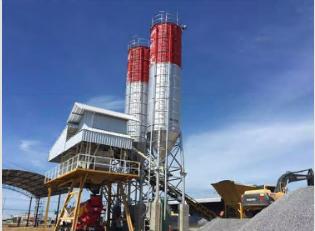 HZS35 automatic concrete mixing plant