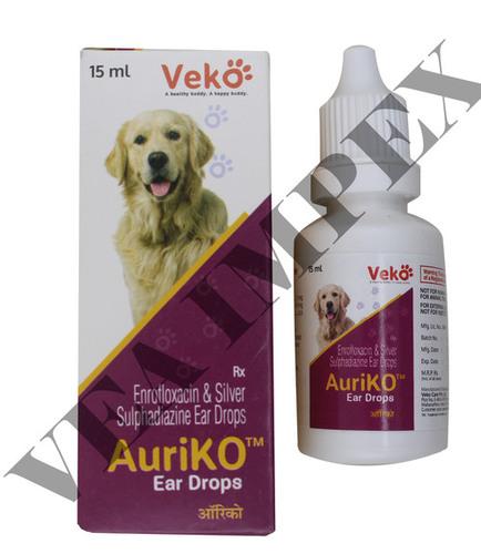 Auriko Ear Drops-ENROFLOXACIN 5MG+SULPHADIAZINE