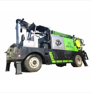 Construction vehicle shotcrete spraying machine