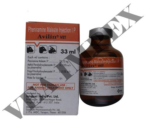 Avilin Vet 33ml Injection Pheniramine Maleate