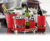 Red steel designed bar set