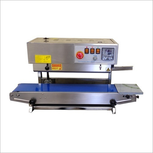 Continuous Band Sealer- Semi Automatic Pouch Packaging Machine