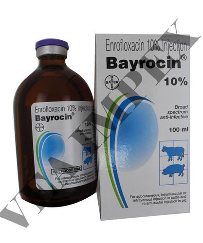 Bayrocin Injection 100Ml-enrofloxacin 100Mg+Butyl Alcho