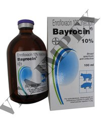 Bayrocin Injection 100Ml-enrofloxacin 100Mg+Butyl Alcho