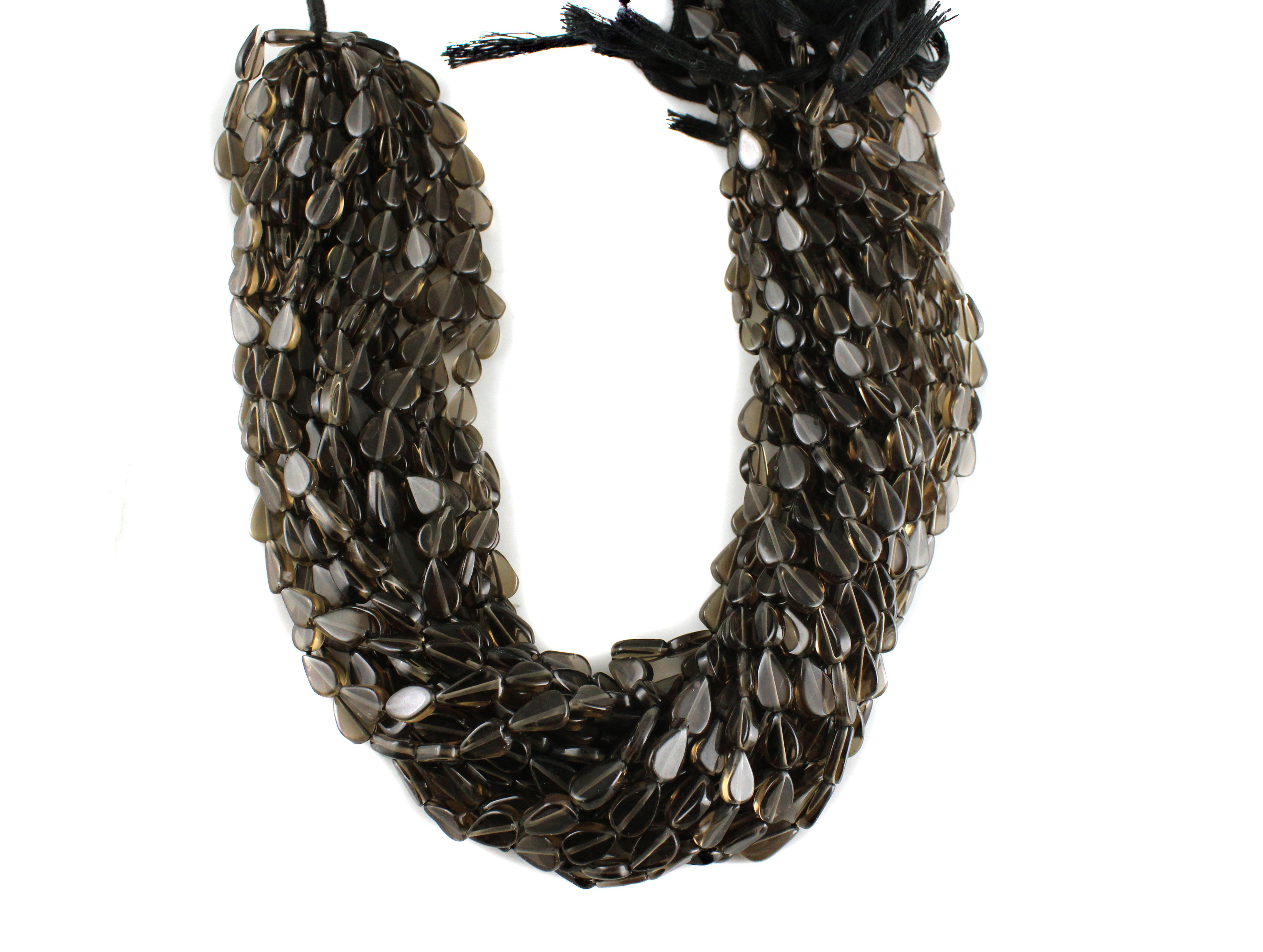 Smoky Quartz Pears Beads
