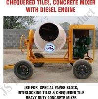 Concrete Mixer with Diesel Engine