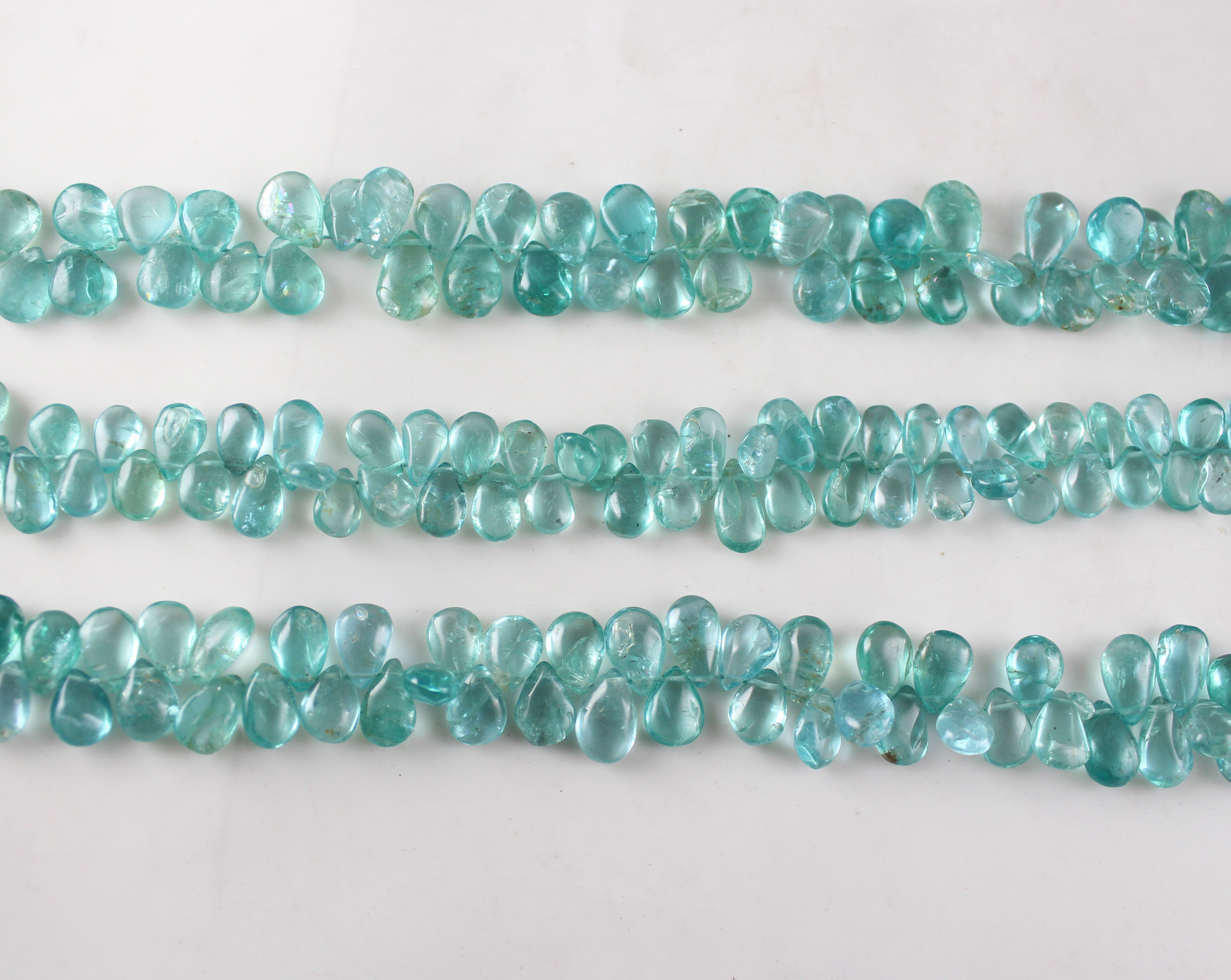 Apatite Plain Pears Beads
