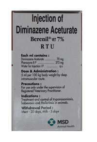Berenil(Phenazone Diminazene aceturate) injection 30ml