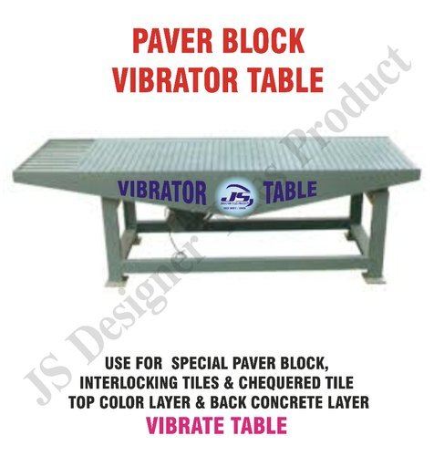 Paver Block Vibro Forming Table