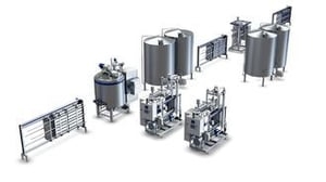 High Speed UHT Milk Production Line Large Milk Processing Machine ISO Approve