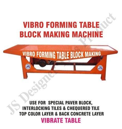 Vibro Forming Table Block Making Machine