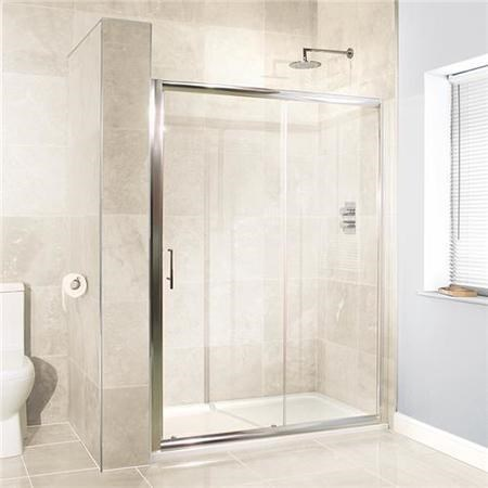 OBSCURE - SLIDING SHOWER ENCLOSURE WITH CONCEALED ROLLERS