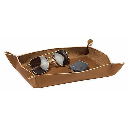 single Leather Tray