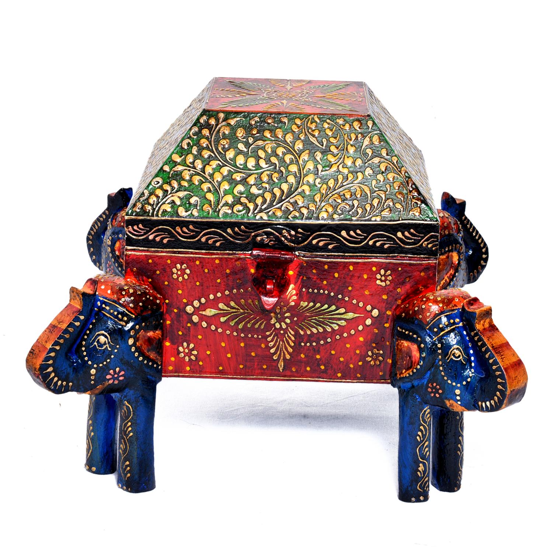 Home Decorative Indian 4 Corner Elephant Attractive Dry Fruit Box
