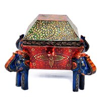 Home Decorative Indian 4 Corner Elephant Attractive Dry Fruit Box