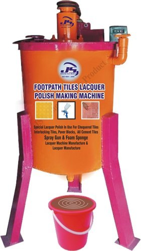 Footpath Tiles Lacquer Polish Making Machine