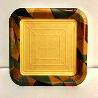 Designer Paper Plate Square