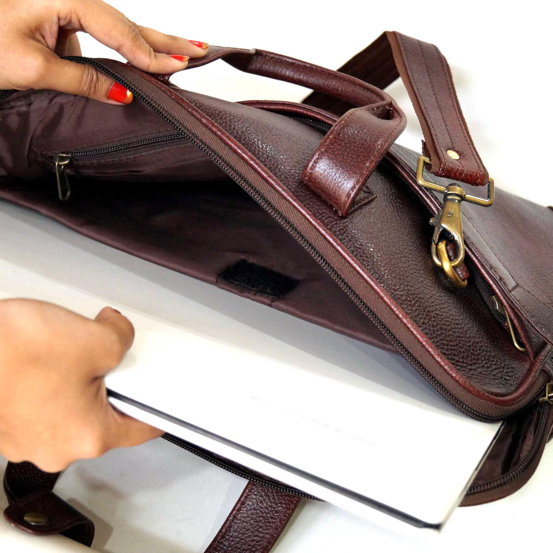 Genuine Leather Laptop Messenger Bag (X1710)