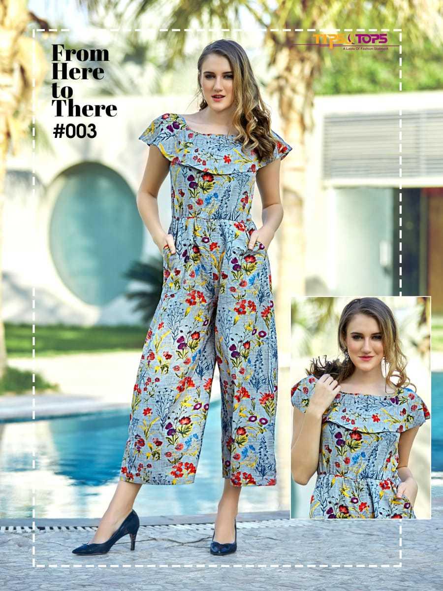 Rayon printed jumpsuits