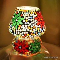 Small Size Glass Table Lamp Mosaic Finish