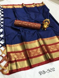 COTTON SLIK SAREE