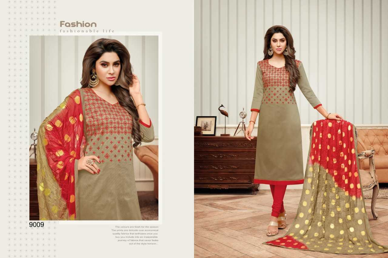Cotton embroidered salwar kameez