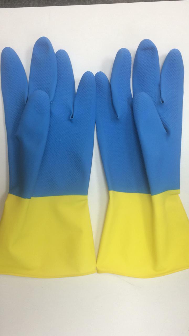 jyo 2 work industrial Rubber Hand Gloves