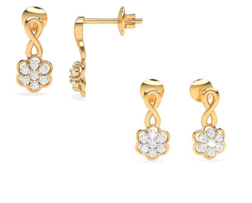 Gold Diamond Earring