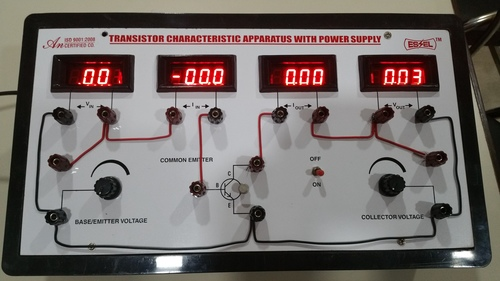 Transistor Characteristics Apparatus with Four Digital Meters