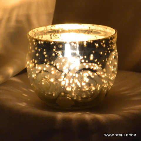 Brown Gold Bronze Candle Holder