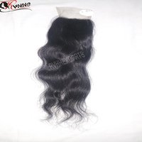 100% Peruvian Human Hair Virgin Hair Bundles With Lace Closure