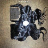100% Peruvian Human Hair Virgin Hair Bundles With Lace Closure