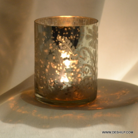 Silver Hand Made Candle Holder