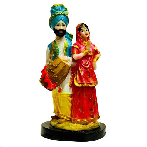 Polyresin Bhangra Couple Statue