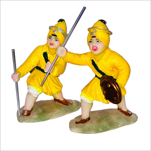 Polyresin Gatka Party Statue