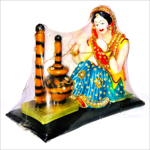 Poly Stone Decorative Madhani Doll Statue