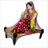 Poly Stone Fancy Phulkari Doll Statue
