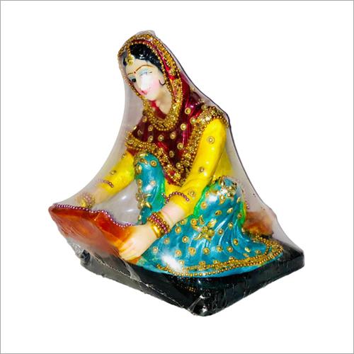 Punjabi Culture Poly Stone Chaj Doll Statue